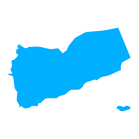 Map of Yemen - outline. Silhouette of Yemen map  illustration