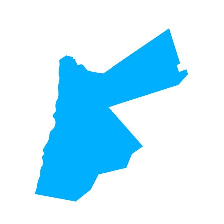 Map of Jordan - outline. Silhouette of Jordan map  illustration Stockfoto