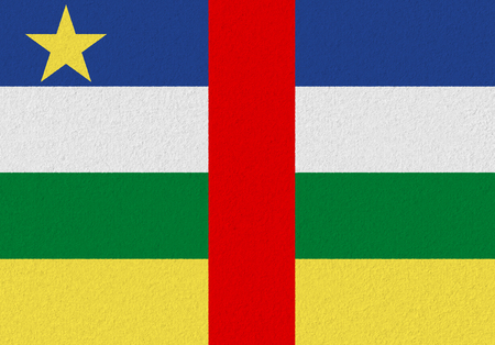 Central African Republic paper flag. Patriotic background. National flag of Central African Republic