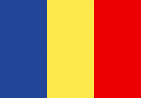 Chad paper flag. Patriotic background. National flag of Chad