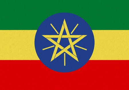 Ethiopia paper flag. Patriotic background. National flag of Ethiopia Stock Photo
