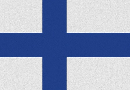 Finland paper flag. Patriotic background. National flag of Finland
