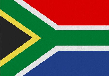 Südafrika Papierflagge. Patriotischer Hintergrund. Nationalflagge von Südafrika Standard-Bild