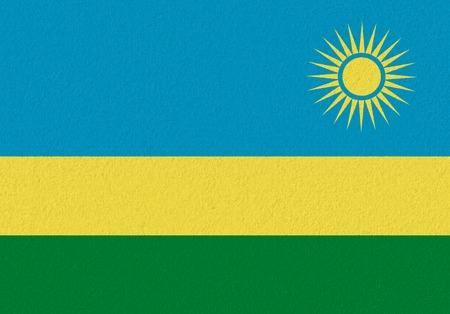 Rwanda paper flag. Patriotic background. National flag of Rwanda 版權商用圖片