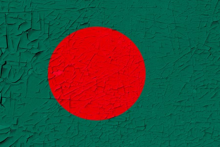 Bangladesh painted flag. Patriotic old grunge background. National flag of Bangladesh Stock fotó