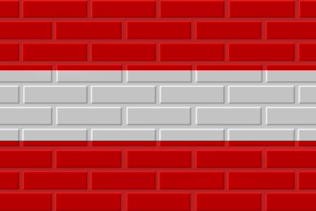Austria brick flag illustration. Patriotic background. National flag of Austria Standard-Bild - 116779166