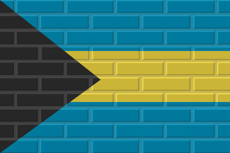 Bahamas brick flag illustration. Patriotic background. National flag of Bahamas Stock Photo