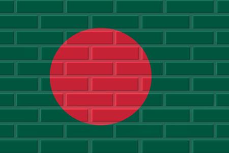 Bangladesh brick flag illustration. Patriotic background. National flag of Bangladesh Stock Photo