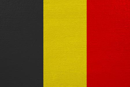 Belgium flag on canvas. Patriotic background. National flag of Belgium