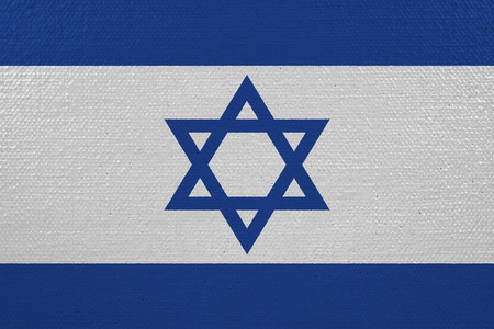 Israel flag on canvas