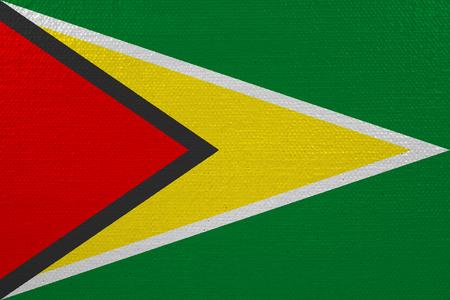 Guyana flag on canvas Stock Photo