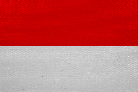 Indonesia flag on canvas Imagens