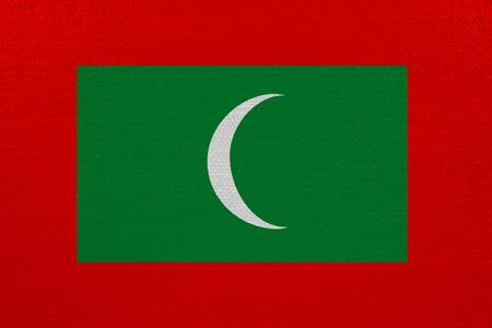Maldives flag on canvas