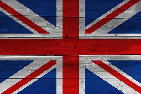 United Kingdom flag painted on old wood plank. Patriotic background. National flag of United Kingdom Reklamní fotografie