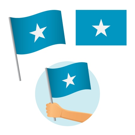 Somalia flag in hand. Patriotic background. National flag of Somalia vector illustration Illusztráció