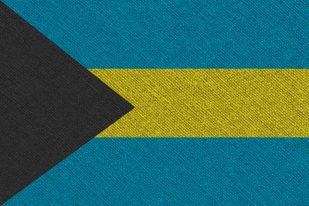 Bahamas fabric flag. Patriotic background. National flag of Bahamas