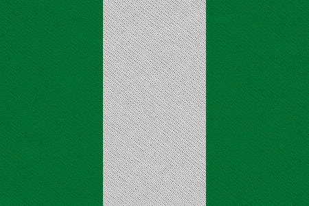 Nigeria fabric flag. Patriotic background. National flag of Nigeria