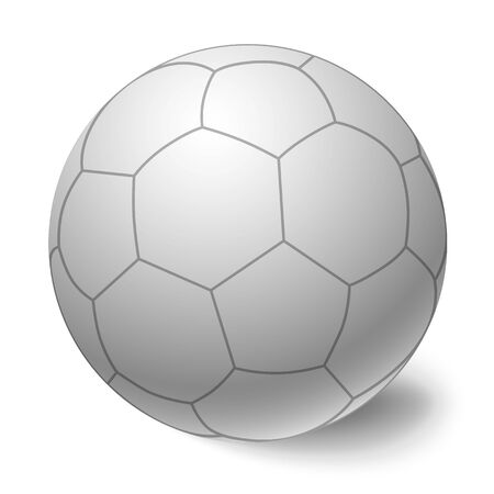 Vettore di pallone da calcio. Icona isolata di calcio palla.
