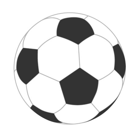 Soccer ball vector. Football ball isolated icon.
