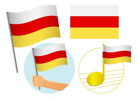 South ossetia flag icon set. National flag of South ossetia vector illustration Фото со стока - 131810693