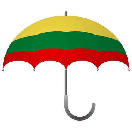 lithuania flag umbrella. Social security concept. National flag of lithuania vector illustration