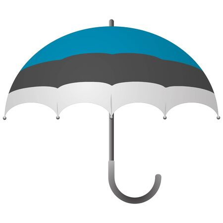 Estonia flag umbrella. Social security concept. National flag of Estonia vector illustration