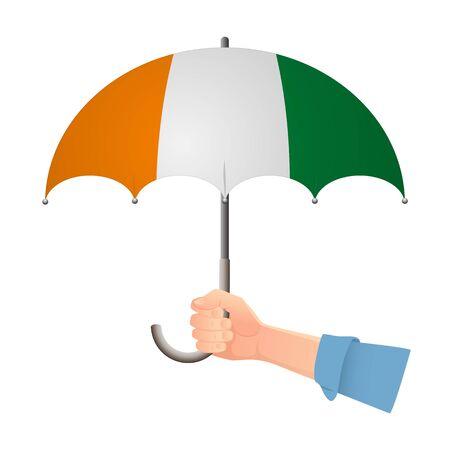 cote divoire - Ivory Coast flag umbrella