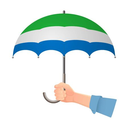 sierra leone flag umbrella