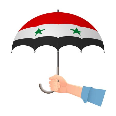 syria flag umbrella
