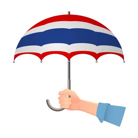 Thailand flag umbrella