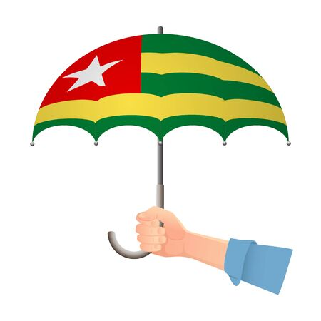 Togo flag umbrella