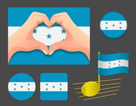 Honduras flag icon. National flag of Honduras vector illustration.