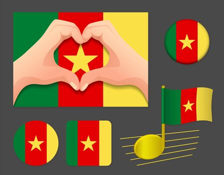Cameroon flag icon. National flag of Cameroon vector illustration.