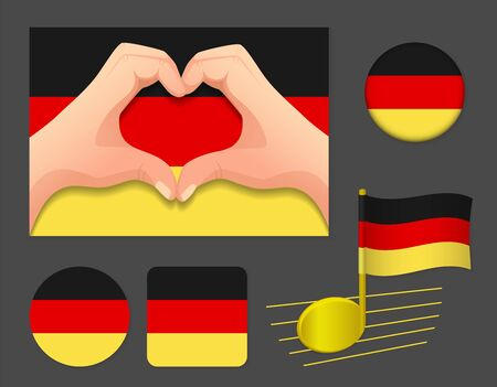 Germany flag icon. National flag of Germany vector illustration.