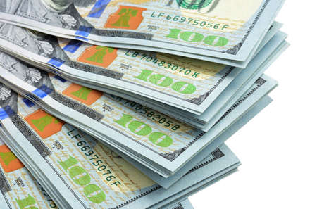 Money fan isolated