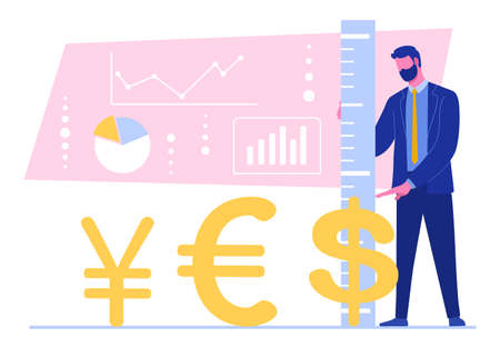 exchange rate of different currencies 免版税图像