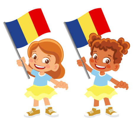 Chad flag in hand set