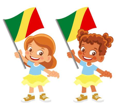 Congo flag in hand set
