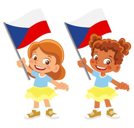 Czech Republic flag in hand set