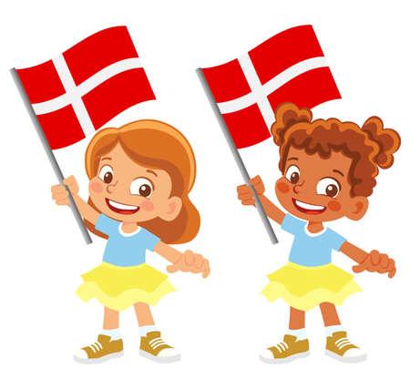Denmark flag in hand set