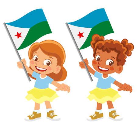 Djibouti flag in hand set