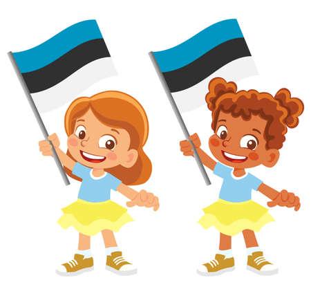 Estonia flag in hand set