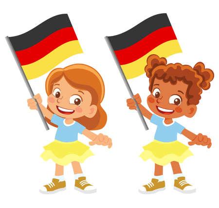 Germany flag in hand set 矢量图像