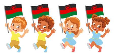 Malawi flag in hand set