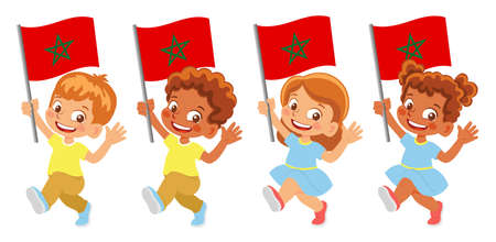 Morocco flag in hand set