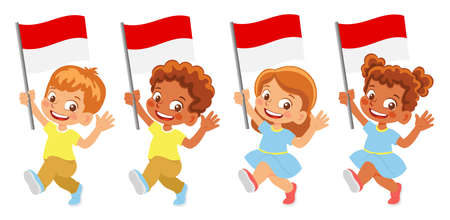 Monaco flag in hand set