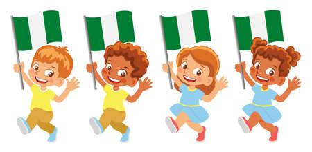 Nigeria flag in hand set
