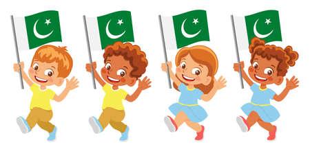 Pakistan flag in hand set