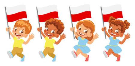 Poland flag in hand set