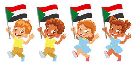 sudan flag in hand set
